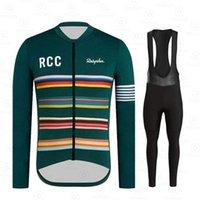 Ensembles de course 2021 Vêtements de vélo Thermiques thermiques RCC Hiver Hommes Jersey à manches longues costume Vélo chaud Vélo Vêtements Bib Pants Set