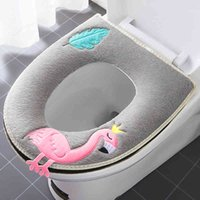 Universal Warm Comfortable Toilet Waterproof Cushion WC Seat Cover Comes With Handle Household Bathroom Mat Set
