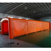 Orange Tube Marquee inflatable tunnel tent Advertising Exhibition Trade Arch shape Sport Entrance Shelter