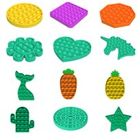 Fidget Toys Pop It Simple Dimple Anti estrés Push Bubble Adulto Niños Unicornio Dinosaurio Popsit Toy Sensory