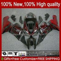 Cuerpo de moto para Kawasaki Ninja OEM ZX600C ZX636 ZX 6R 6 R 600CC 05-06 Bodyworks 7NO.20 ZX600 ZX 636 ZX-6R 2005 2006 ZX-600 ZX-636 600 CC ZX6R 05 06 Kit de carenado ABS Llamas rojas