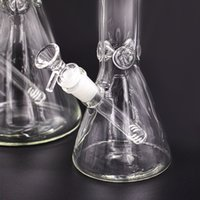 Heavy 9mm Glass Bong pipes hookahs Beaker Bongs thick elephant Joint waterpipe with ice catcher classical smoking pipe