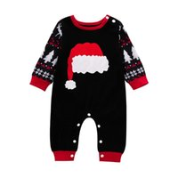 0-12 m Moda Sonbahar ve Kış Uzun kollu Doğan Bebek Bebek Erkek Kız Noel Karikatür Baskı Romper Tulum Kıyafetler Tulumlar