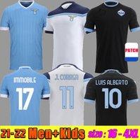 21 22 22 Lazio Home Soccer Jerseys Luis Alberto J.Correa Immobile Away Thid 2021 2022 Maglie da calcio Sergej Lazzari Marusic Vedat Muriqi 3a camicie da calcio