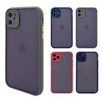 Temizle Mat TPU PC Kapak Darbeye Kamera Koruma Cep Telefonu Kılıfları iPhone 11 12 Pro Max M X XR 8 7 Artı