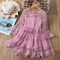 Flower Girls Dress For Wedding And Party Frocks Dresses Fairy Lace Evening Spring Summer 3-8T Ceremony Girl's