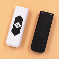 Lighters USB Rechargeable Battery Electronic Cigarettes Lighter Windproof Flameless No Gas Fuel ABS Flame Retardant ZHL4318