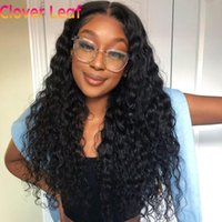 Lace Wigs Water Wave Wig 32 Inches Front 13x4 Human Hair 150% Remy 4x4 Closure Pre Plucked