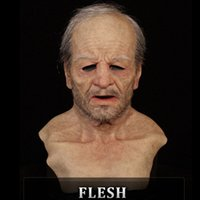 Designer Old Man Woman Fake Mask Lifelike Halloween Holiday Funny Super Soft Reusable Adult Children Doll Toy Gift Cosplay Face Masks Party Supplies 10 styles