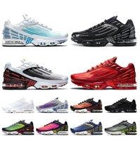 TOP TUNED TN PLUS 3 entrenadores Mujeres para hombre Zapatillas para correr Blanco Láser Azul Negro Red Sports Sneakers con caja