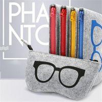Storage Bags Colorful Sunglasses Case Organizer Bag For Women Men Glasses Box Felt Eyeglasses Cases
