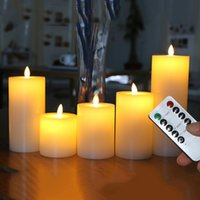 Dancing Flame LED Candle With Timer Remote Control, Wax Pilla...