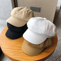 قبعات أسود مثمن فتاة الربيع والصيف الفن القبعات واسعة بريم الوجه رقيقة البريطانية تنوعي سبيرا قبعة