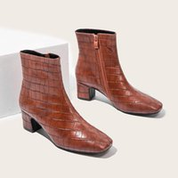 부츠 신발 여성 중간 송아지 럭셔리 디자이너 지퍼 부츠 - 여성 겨울 신발 오물 걸쇠 플랫폼 바위 고무 패션 2021 숙녀