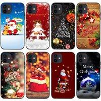 Casos de telefone celular santa gingerbread homem iphone13 caso móvel case ano novo árvore de natal velho boneco de neve XR ELK XS BONITO