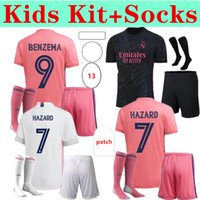 Podsycal Gerçek Madrid Formalar 20 21 Futbol Futbol Gömlek Tehlike Sergio Ramos Benzema Camiseta Kids Kiti Dördüncü Dördüncü Humanrace