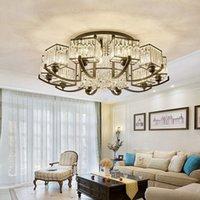 Deckenleuchten Modern einfach plattiert Kristallglanz E27 220V LED PLAFONNIER Lampe für Wohnzimmer Schlafzimmer Restaurant EL