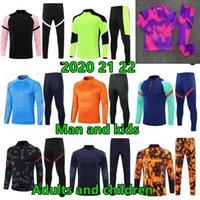 2021 22 Erkekler ve Çocuklar Koşu Futbol Eğitimi Eşofman Kitleri Erkek Erkek Ceket Survetement Ayak Futbol Chandal Futbol Chándal Spor Giyim