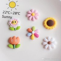 Novelty Items 7 Styles Wholesale Silicone Flowers Modeling Hair Rope Hairpin Phone Case DIY Resin Accessories