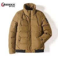 Marca de luxo homens para baixo jaqueta wwkk wwkk jaqueta de inverno homens qualidade térmica térmica casaco neve parka masculino quente outwear moda - branco pato para baixo eu
