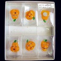 Personalizzato Handmade Handmade Murano Glass Pumpkin Testa Statue Halloween Strano Cartoon Animal Ornaments Decorazioni da giardino Figurina