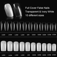 Half Full Cover Fake Nails Long False Nail Art Tips Fingernail Mold Clear Color Extension Gel Manicure Tool 100Pcs Box