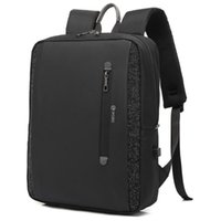 Backpack Men Backpacks POSO With USB Charging Port Waterproof 15.6 Inch Black Gray PS-633