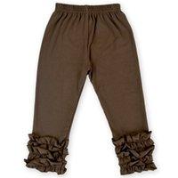 Bébé Pure Couleur Pantalon long Pantalon Garçons Filles Lotus Feuille Feuille Pantalons Personnes Leggings Polyatile Multicolore 20FY J2