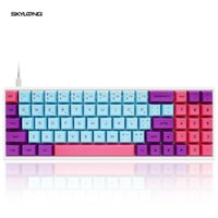 Mechanical Gaming Keyboard With Sublimation PBT Keycaps Programmable SK71 GK71 Joker Swappable NKRO Gateron Axis RGB Backlit Keyboards