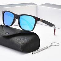Luxus Mode Marke Designer Männer und Frauen Polarized Sonnenbrille Outdoor Riding Series Coole Ledertasche Tuch Box Zubehör