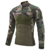 Men Combat T-shirts Tactical Clothing Military Uniform Cp Camouflage Airsoft Army Suit Breathable Work Clothes