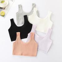 Panties Teen Bra Girl Vest Cotton Spandex Big Girl's Sport 7-14 Years Adolescente Kids Underwear Racerback Training1