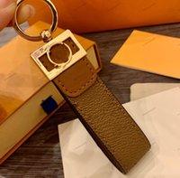 Luxo Keychain High Qualtiy Letter Impressão Handmade Chave Titular Titular Da Marca Designers Chaveiro Homens Homens Mulheres Carro Pingente Saco Chaveiros