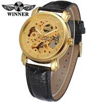 손목 시계 수상자 구매 시계 디자인 럭셔리 스켈레톤 자동 골드 컬러 몬트르 온라인 기계식 강철 남성