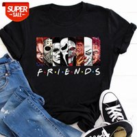 2021 Amigos de Verão Horror Oversized T Shirt 90s Wicca Roupas Góticas Punk Cool t - shirts Escuro Edgy Gráfico Tees Grunge Devil Rock Coag # 1Z6J