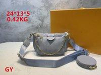 YQ Klasik 3 Adet Set Yüksek Qulity Tasarımcı Çanta Bayan Çanta PU Kabartma Çok Pochette Aksesuarları Crossbody Moda Çanta Omuz Kadın Çanta