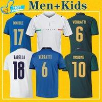 ITALIE Maillots de football 2021 Italia Maillot de foot de l'équipe nationale à domicile Troisième VERRATTI IMMOBILE CHIESA 21 22 Kit pour hommes + enfants