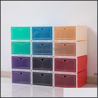 Bins Housekee Organization & Gardenfoldable Storage Shoes Boxes Set Mticolor Plastic Clear Home Shoe Rack Organizer Stack Display Box Hwa747