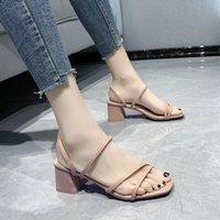 Sandals Slippers Women Summer Blue Shoes Flats Heel Flip Gladiator Brief Flop Woman Back Strap Mujer