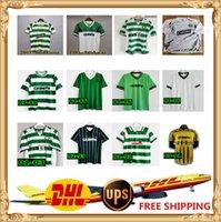 DHL UPS Бесплатный 84 86 96 06 08 Celtic Ретро Джерси 1991 1993 1998 1999 Celtic Retro Classic Vintage Sutton 1995 1997 Celtic Ретро футбол