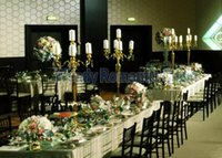 90cm (H) Wedding Candelabras Gold Or Silver Centerpiece Table Decor Candle Holders