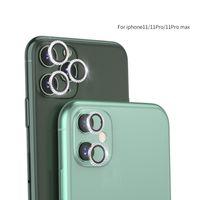 Elmas Kamera Ekran Koruyucular Kılıf iphone 11 Pro Max Tam Kapak Lens Koruyucu Film Yüzük Geri Kılıfları