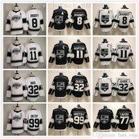 2020 Los Angeles Kings Hockey 8 Drew Tugty 11 Anze Kopitar 32 Jonathan Schnell 77 Jeff Carter 99 Wayne Gretzky Trikots weiß schwarz
