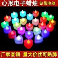 LED Mum Çay Işık Alevsiz Tealight Renkli Alev Yanıp Sönen Mum Lamba Düğün Doğum Günü Partisi Noel Işık Dekorasyon