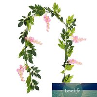 7ft 2m Flower String Artificial Wisteria Vine Garland Plants Foliage Outdoor Home Trailing Flower Fake Hanging Wall Decor LZ0030 Factory price expert design