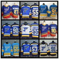 2019 Stanley Cup Finais Campeões St Louis Blues Hóquei Jerseys Ryan O'Reilly Vladimir Schwartz Alex Pietrangelo Colton Parayko David Perron Shirt Uniforme