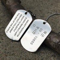 Кулон Ожерелья 1 коммутационный армейский тег значок зовут собака человек цепи ожерелье цвет нержавеющей стали Choker Charge женские ювелирные изделия подарок N46