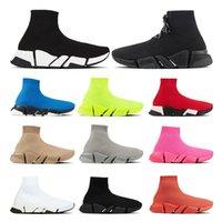 جورب الأحذية سرعة 2.0 المصممين الفاخرة عارضة الرجال النساء أسود أبيض روبي رمادي البيج فلوه الأصفر الأزياء فخمة الرياضة زيادة في الهواء الطلق