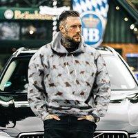 Męskie bluzy bluzy 2021 Jesień i zima Moda Naturalna Sceneria Kapturem 3D Płyta Drukarska Płyta Dorywczo Sweter