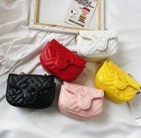 한국어 버전 어린이 핸드백 원 어깨 크로스 바디 가방 트렌드 All-Match Girl Chain 작은 사각형 가방 패션 지갑 어린이 지갑